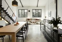 Open Plan Living / Open plan loving using polished concrete floors