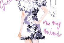 Fashion illustrations by Marc-Antoine Coulon