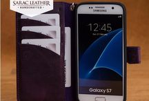 Leather Galaxy S7 Case with Wrist Lanyard