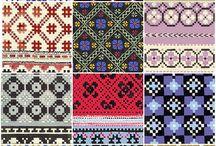 Weefpatronen uit Letland / Latvian weaving