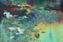 saatchi art / waterscapes semi-abstract water intuitive places you could call home by lies goemans