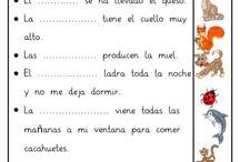 Fichas de lecto escritura preescolar