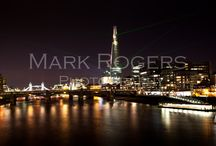 """The Shard / I took a few night shots when the Shard put on a so-called light-show. They were shot from the """"Millennium Bridge""""."""