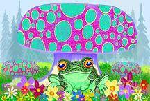 Frog Art / http://savethefrogs.com