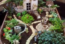 fairy gardens with houses