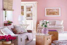 różowa sypialnia