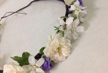 Hair Flower... / ブライダル用で作成した花かんむりなど…