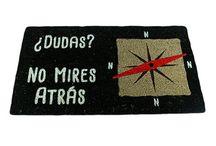 """Felpudo """"¿Dudas? No mires atrás"""" / Felpudos Originales Maceta Colorá www.macetacolora.com"""