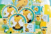 Giraffe or Safari Themed Party Ideas / Giraffe or Safari Themed Party Ideas for baby shower or first birthday