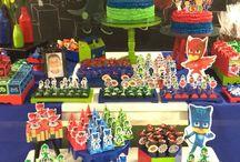 Festa tema: Pj Masks / ideias para festa dos Heróis  de pijamas