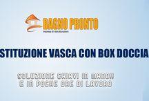 Bagnopronto / Bagnopronto è un'azienda specializzata nella ristrutturazione completa dei bagni. Da lavori semplici come la sostituzione della vasca con un comodo e pratico box doccia alla ristrutturazione completa (nuovi impianti idrici, termici, sostituzione sanitari e montaggio mobile bagno).
