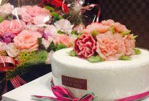 Flower cake-앙금플라워케이크 / Natural coloured ricecake, healthy 앙금에 천연색소를 넣은 떡케이크