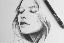 sketch & line art