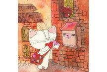 Анастасия Еременко / Анастасия Ерёменко — российский  иллюстратор и фотограф. Ее рисованные котята, так и просятся на страницы детских книг и почтовых открыток.