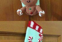 meia de Natal em tricot