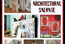 Vintage-Architectural Salvage / Recycled materials and objects from demolition used for Vintage interior decoration styling.