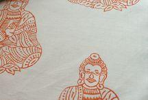 Unika sängkläder. Blocktryck med inspiration från Radjastan.
