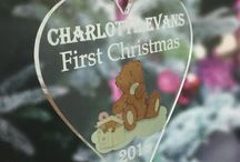 Babies First Christmas Gift Ideas from www.LittleShopOfWishes.co.uk / New Baby and Babies 1st Christmas gifts, including Christmas tree baubles, decorations and keepsakes.  Great if you have you had a new addition to your family, or know someone who has had a baby this year. The countdown to Christmas has begun, so get ready to celebrate and capture the magical memories with a beautiful personalised Christmas decoration to hang proudly on your tree this year and a keepsake for years to come.  www.littleshopofwishes.co.uk/category/Christmas