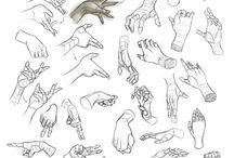 Reference & Tutorials: hands & feet / Reference for draw.