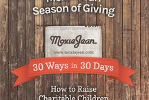 "30 Ways, 30 Days: How to Raise Charitable Children / We hope you agree that shopping resale is an important way to ""live your values"" and practice sustainable consumption. As we enter the Season of Giving, Moxie Jean is kicking off ""30 Ways, 30 Days: How to Raise Charitable Children."" We'll be sharing a daily tip for the next month of fun and easy ways for you and your family to give to back. Share with us how you give back to your community and you could win $50 in Moxie Money! http://moxiejean.pgtb.me/CXqdgN   / by Moxie Jean"