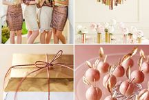 Metalic gold and pink Wedding