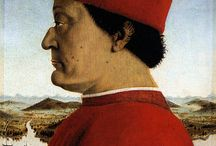 Art of Piero Della Francesca (b. 1416-1492) Italian / Italian painter, virtually forgotten for centuries after his death, but regarded since his rediscovery in the early 20th century as one of the supreme artists of the quattrocento. He was born in Borgo San Sepolcro (now Sansepolcro) in Umbria and spent much of his life there. We hear of him also at various times in Ferrara, Rimini, Arezzo, Rome, and Urbino. But he found the origins of his style in Florence. / by Leslie Greene
