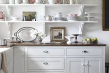 Kitchens | Eat-Ins / Face it, this is the most over-hyped, over-sentimentalized room of the house.  And, yet, when you think of the room that's the most evocative, the one your mind can taste, smell, and touch, it's the kitchen.  If you had to be trapped in one room in your house for a week, wouldn't you rather it be your kitchen than your bedroom?  After all, you can always sleep on the kitchen floor, but you're sure not going to be whipping up a plate of scrambled eggs in the bedroom.   / by Susan Benner Rego