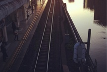 train, station, from a train window etc.