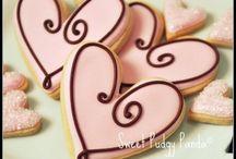 Laura & Tracey wedding cookies