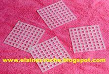 fatti con tela in plastica