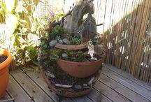 My mini gardens I made / My Mini Gardens i make so I can bring the outside in