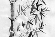 Bambú ::: Sumi-e