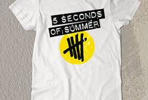 New 5 SOS Yellow Logo t-Shirt