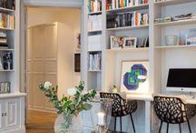 Stue bibliotek / Hylleordning i stua