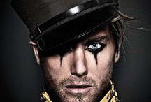Men circus makeup