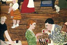 Naive painting / Beautiful paintings that have a charm and simplicity all of their very own.