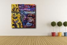Living With Art / Inspirational // How it looks and could possibly feel like living in a space surrounded by artworks