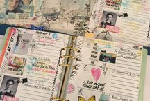Artful Planner Design / Artsy planners.  Take your planning to another level with an art journaling styled planner created using digital designs and products or hybrid between digital and tangible.  Planner pages typically include organizational planner systems along with additional art journaling inserts and artistic inclusions.