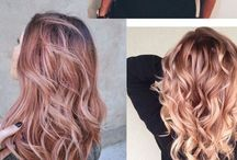 Cheveux or rose