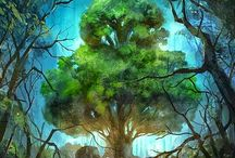 Trees of Life / Beautiful trees. As a symbol or in nature, on photography, digital art, paintings. Legends and myths, historical, ancient, contemporary.