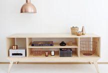 Plywood tv stand idea DIY