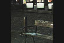 丸の内は日本離れした景色。ニューヨークっぽいけどパリっぽい要素もありミラノっぽいところもあり・・一周して日本らしい街。 a Marunouchi Naka-dori Ave., Tokyo #bench #marunouchi #tokyo #nightview #丸の内写真