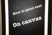 writing text on canvas