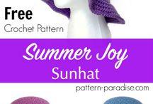 summer crochet hat purple