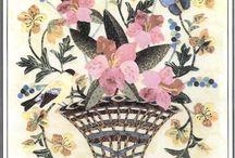 Flower Appliqué Vases