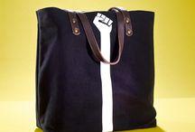 01WARDROBE Autumn/Winter 2013 - Fist Tote Bag / Cow Skin Leather Shoulder Straps // %100 Cotton Canvas bag / Printed bag / İllustrated bag / Fist Tote Bag, $65
