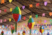 Festas Juninas Decoração Artesanatos / #festajunina #festa #saojoao #joao