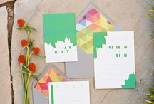 Graphic style wedding invitation  / Graphic style wedding invitation