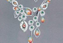DISEÑO JOYAS / Diseños de joyas pintados a mano que me gustan