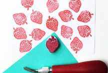 Paprika Paper Goods - Original Handprints / Decorative Handprints, Hand Carved Art, Handmade Goods